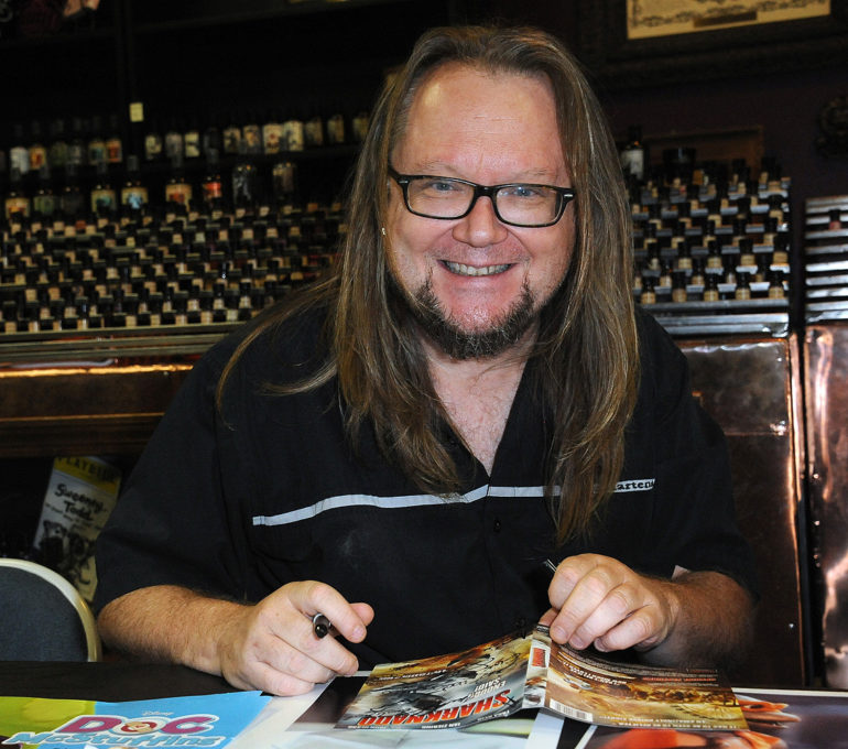"Robbie Rist participates in the ""Sharknado"" DVD Signing held at Dark Delicacies Bookstore on September 8, 2013 in Burbank, California. (Photo by Albert L. Ortega"