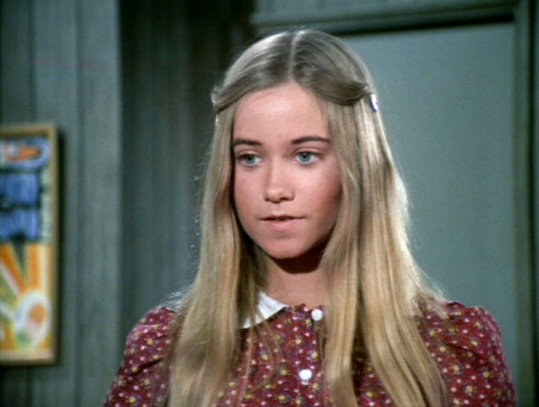"LOS ANGELES - FEBRUARY 9: Maureen McCormick as Marcia Brady in the BRADY BUNCH episode, ""The Subject Was Noses."" Original air date, February 9, 1973. Image is a screen grab. (Photo by CBS via Getty Images)"