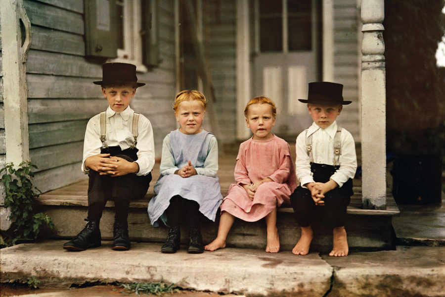 Amish+children+in+Lancaster+County+Pennsylvania+1937