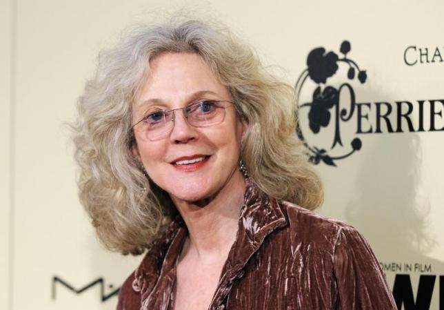 Actress Blythe Danner poses at the Women In Film pre-Oscar cocktail party at Cecconi's in West Hollywood