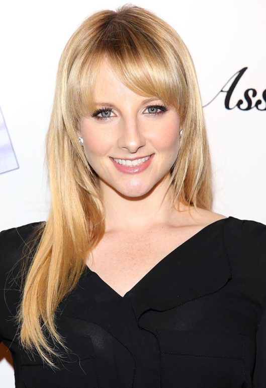 "LOS ANGELES, CA - OCTOBER 30: Melissa Rauch attends the ""Ass Backwards"" Los Angeles Premiere at the Vista Theatre on October 30, 2013 in Los Angeles, California. (Photo by JB Lacroix/WireImage)"