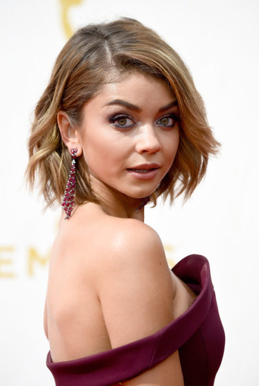 LOS ANGELES, CA - SEPTEMBER 20: Actress Sarah Hyland attends the 67th Annual Primetime Emmy Awards at Microsoft Theater on September 20, 2015 in Los Angeles, California. (Photo by Frazer Harrison/Getty Images)
