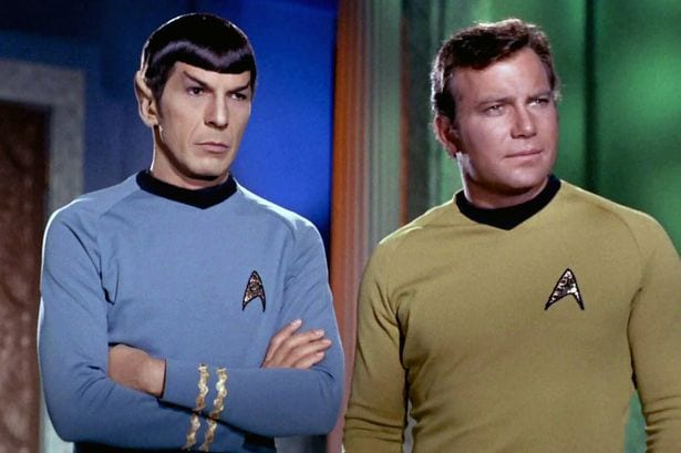 Leonard-Nimoy-as-Mr-Spock-and-William-Shatner-as-Captain-James-T-Kirk