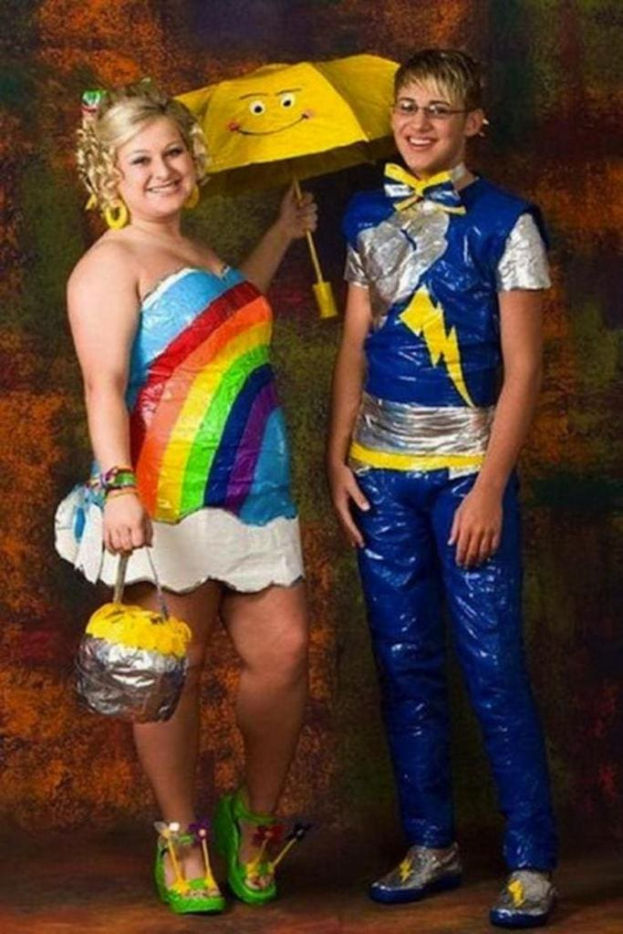Rainbow-ducttape-dress