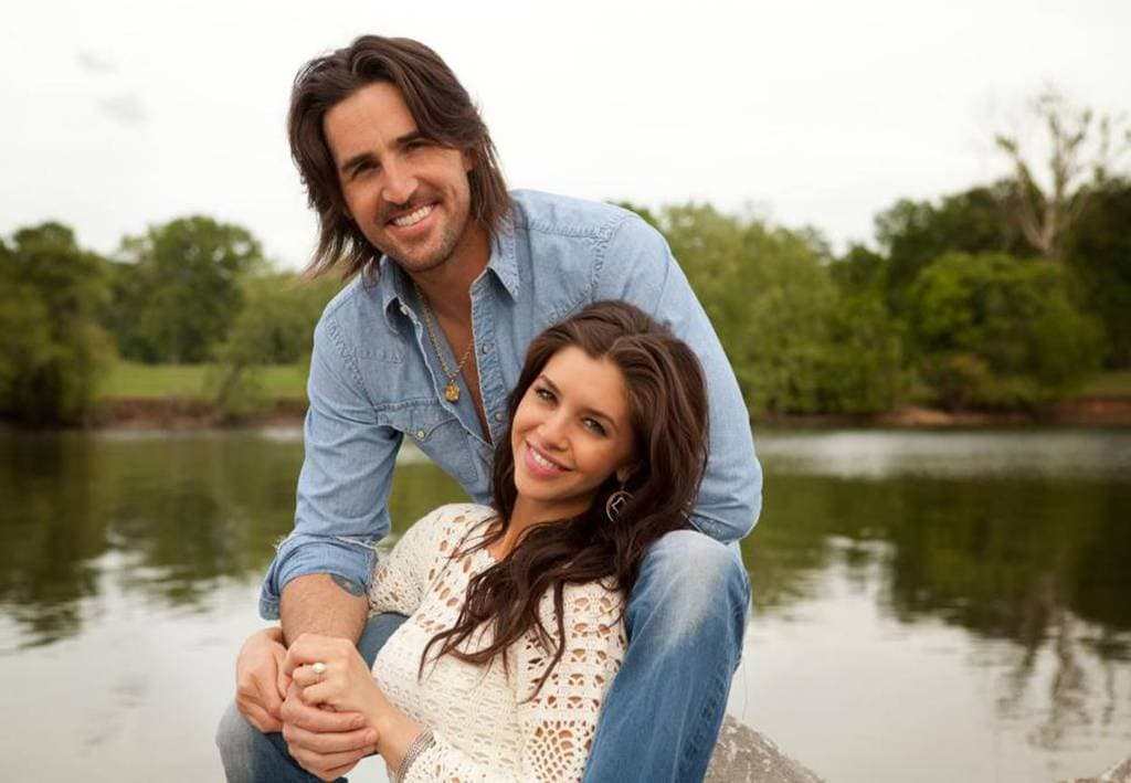 jake-owen-and-lacey-buchanan-engagement-photo then