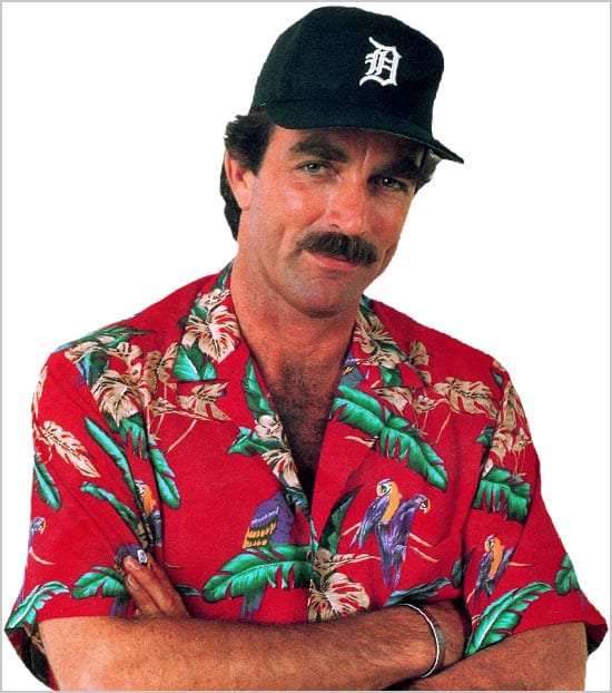 Aloha-Shirts-Tom-Selleck-Magnum-portrait