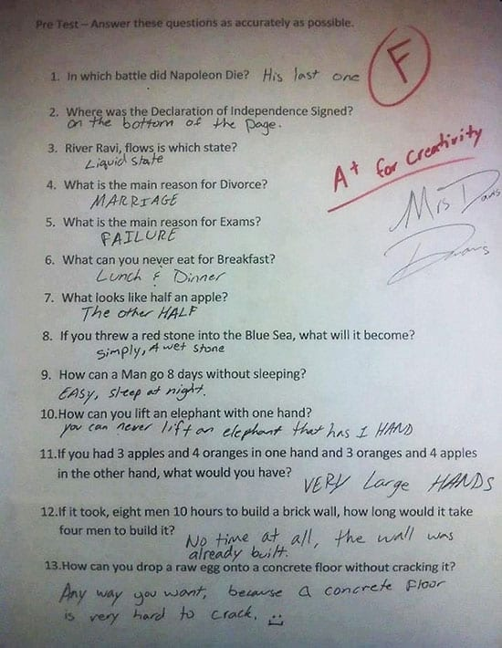 funny-test-answers-smart-ass-kids-fail