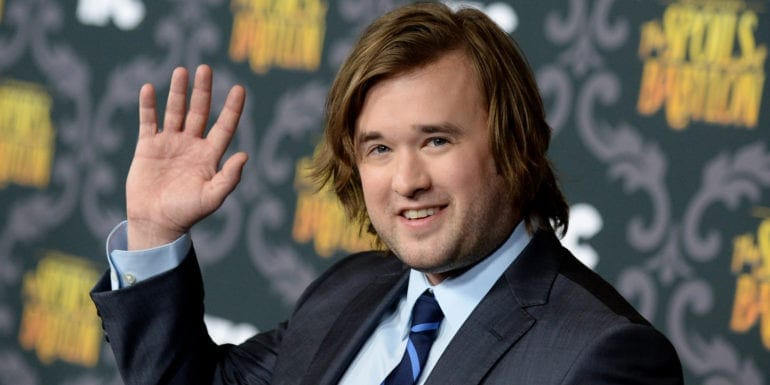 "Haley Joel Osment arrives at the LA Premiere screening of ""The Spoils of Babylon"" at the DGA Theater on Tuesday, Jan. 7, 2014 in Los Angeles. (Photo by Jordan Strauss/Invision/AP)"