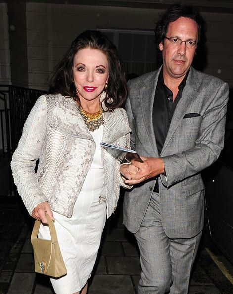 Joan+Collins+Percy+Gibson+Celebs+Leave+Performance+ayDmWX2hlJal