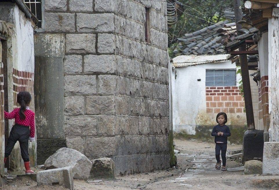 typical rural north korean village