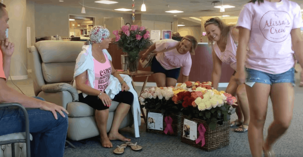 7-Brad-Bousquet-surprised-wife-for-final-cancer-treatment