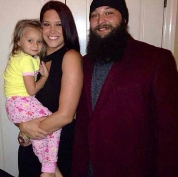 WWE-star-Bray-Wyatt-with-his-wife-and-daughter