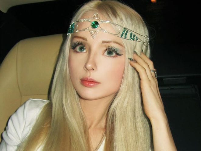 Celebrity real life barbie family