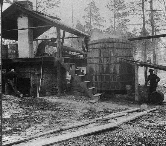 1903-Distilling-turpentine-from-the-crude-resin-in-the-pine-forests-of-North-Carolina-e1402944042125