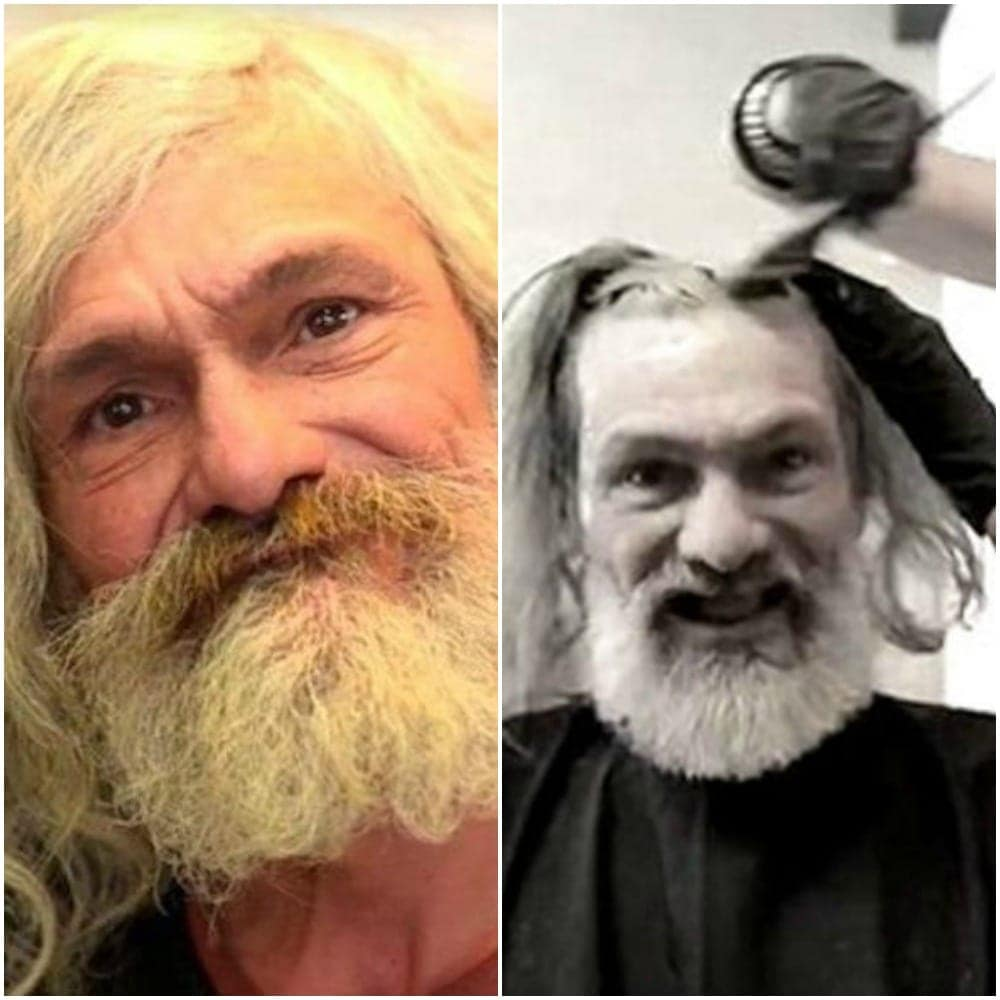 Homeless Man Gets A Life Changing Makeover And Looks Like Model Now