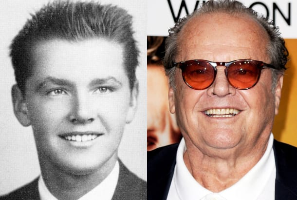 jack-nicholson-yearbook-high-school-young-1954-red-carpet-2010-photo-split