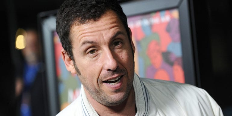 "LOS ANGELES, CA - SEPTEMBER 30: Actor Adam Sandler attends the premiere of ""Men, Women and Children"" at DGA Theater on September 30, 2014 in Los Angeles, California. (Photo by Jason LaVeris/FilmMagic)"