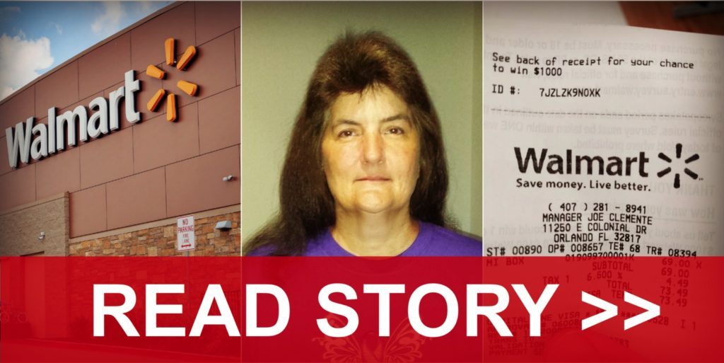 this woman checked her walmart receipt and noticed something very