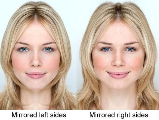 Exactly symmetrical face celebrity