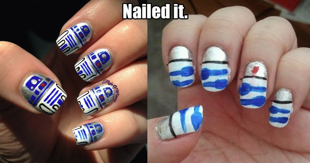 Colorful Stick On Union Jack Nails Composition - Nail Art Ideas ...
