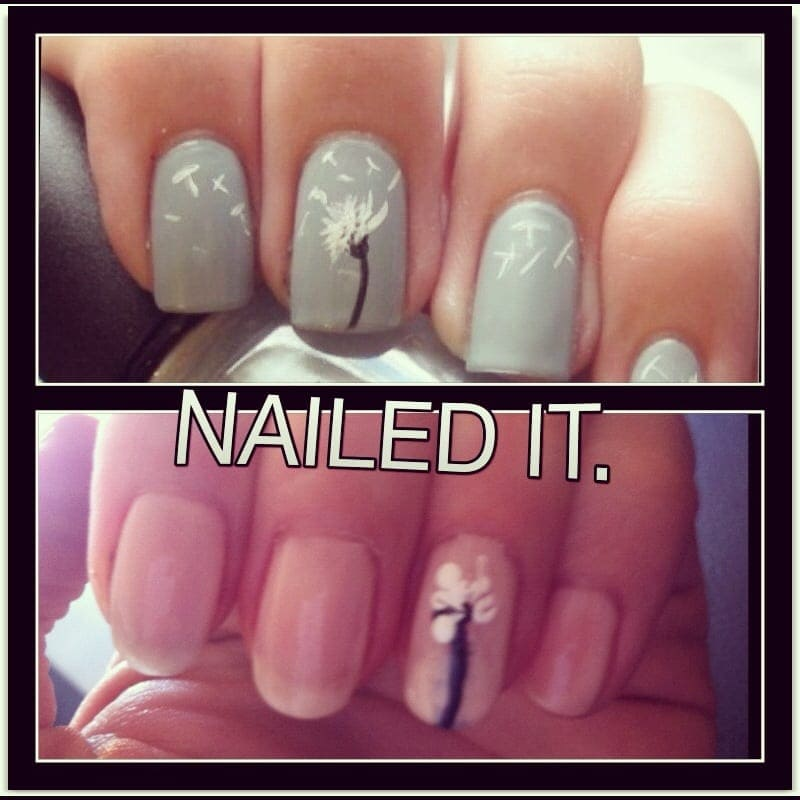 21 major nail art fails and wins kiwireport dandelion sciox Gallery