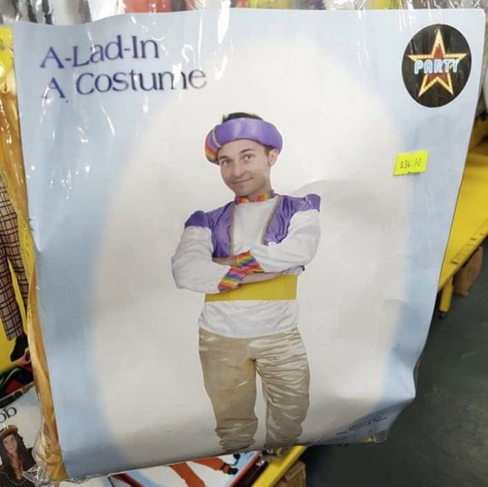 Instead Of Calling Their Fake Aladdin Costume By The Characteru0027s Real Name,  These Costume Makers Decided To Skip The Risk Of Copyright Infringement And  Make ...