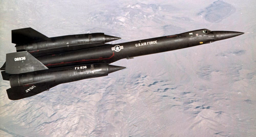 YF-12 flies test mission