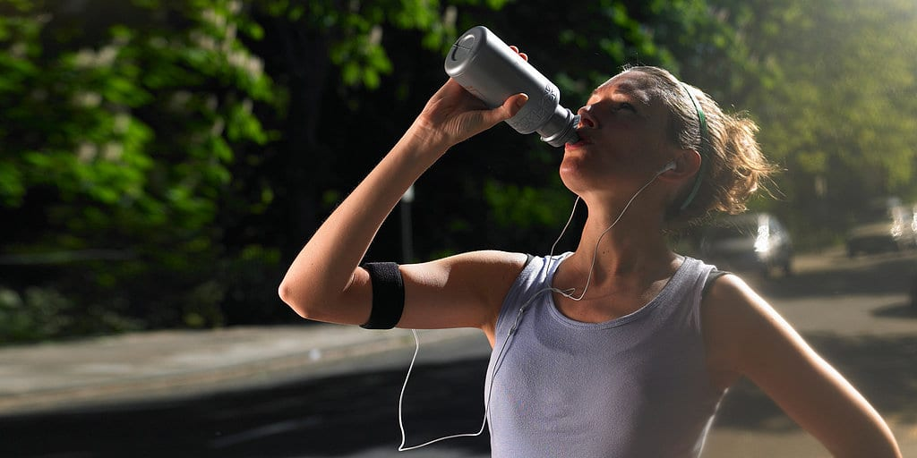Drinking-water-after-workout