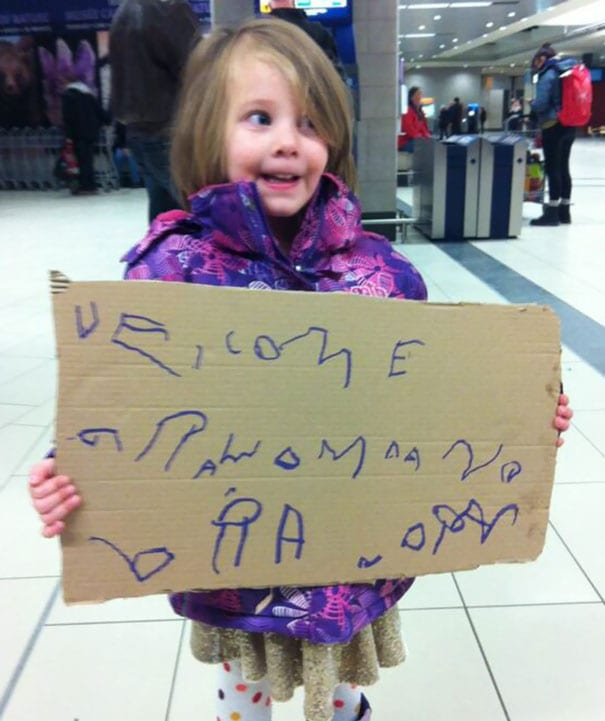 How to welcome husband at airport