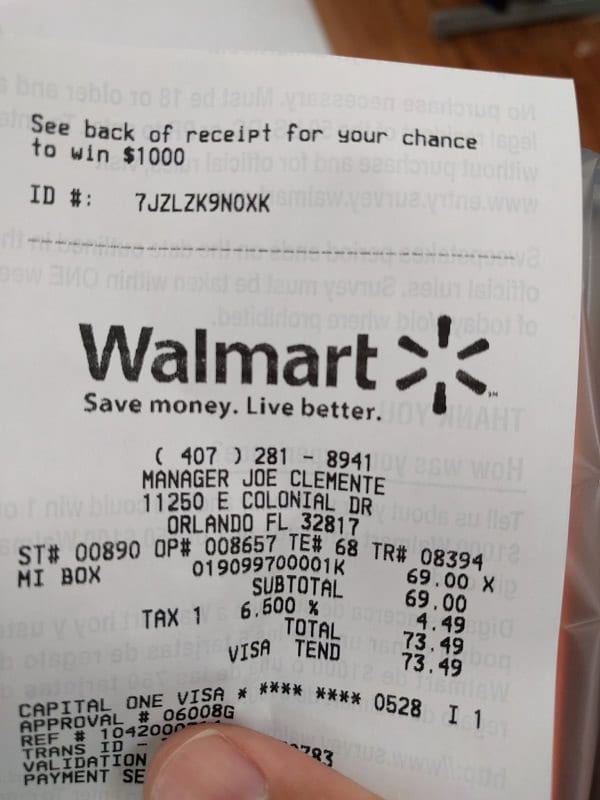after buying at walmart this woman noticed something on her receipt