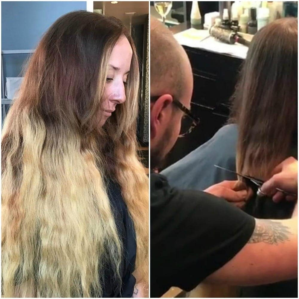 this bride got her first haircut in years and people couldn't stop